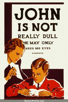 59d021c9be6b38 Based on our popular John Is Not Really Dull WPA print we now present the  custom poster  Joe is not really dull. He may only need his eyes examined.