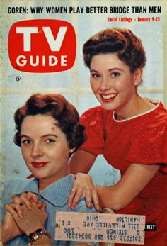 """1960 — Jane Wyatt & Elinor Donahue in Father Knows Best CBS) These good old tv show are an inspiration generally due to FCC regulation. Any """"obscene and indecent"""" programming was prohibited. Old Tv Shows, Best Tv Shows, Father Knows Best, Movie Magazine, Tv Land, Old Magazines, Tv Episodes, Vintage Tv, Tv Guide"""