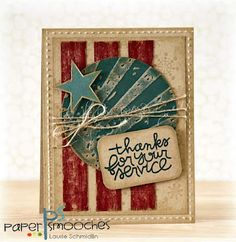 Laurie Schmidlin Paper Smooches DT creation using the Circle of Honor stamp set.