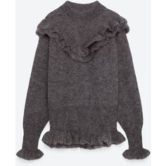 MOHAIR SWEATER MED FLÆSE - BLING BLING | TRF-EDITORIALS | ZARA Danmark (3.900 RUB) via Polyvore featuring tops, sweaters и mohair sweater