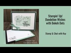 Stampin' Up! Dandelion Wishes Get Well Card - Stamping To Share Dandelion Wish, Get Well Cards, Wishing Well, Text Me, Sympathy Cards, Folded Cards, Bokeh, Stampin Up, Dots