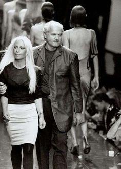 Gianni Versace stilista - Donatella con Gianni Versace