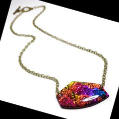 Modern Statement Love Necklace polymer clay Jewelry by BeadazzleMe