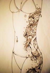 Dragon Mermaid Rib Tattoo by ~ Samoubica on deviantART (body.- Dragon Mermaid Rib Tattoo by ~ Samoubica on deviantART (body length did idea for … Dragon Mermaid Rib Tattoo by ~ Samoubica on deviantART (body length did idea for … - Rib Tattoos For Women, Dragon Tattoos For Men, Back Tattoo Women, Tattoos For Guys, Dragon Tattoo On Ribs, Cover Up Tattoos, Body Art Tattoos, Spine Tattoos, Tatoos