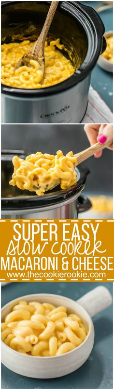 Slow Cooker Macaroni and Cheese is a super easy mac and cheese recipe perfect for any occasion! Great for busy weeknights. Delicious and creamy macaroni and cheese made in a crockpot!