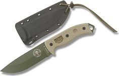 ESEE Knives ESEE-5 OD Plain Blade w/ Canvas Micarta Handle