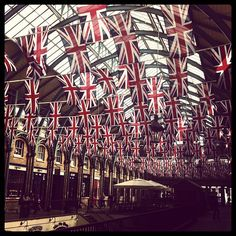 Union flags at Covent Garden