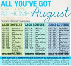 August workouts routine,  toned -  fitness -  #2013  keep going -  #abs,  #fit