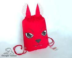 Cat Rucksack Animal Drawstring Backpack Cute Cosplay