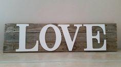 Pallet Sign Wood Letter Large Reclaimed by KelseyNicoleDesignCo