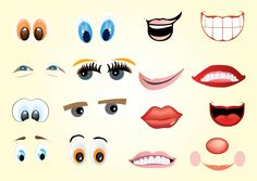 Facial Expressions- could be great for teaching kids to identify emotions.