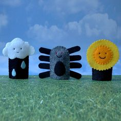 Itsy Bitsy Spider Puppet Set  Eency Weency Spider by cherylasmith, $15.00