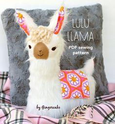 LuLu Llama Pillow PDf sewing pattern