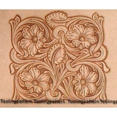 Risultati immagini per tooling pattern leather Leather Stamps, Leather Art, Custom Leather, Leather Design, Leather Tooling, Tooled Leather, Wood Carving Patterns, Carving Designs, Leather Working Patterns