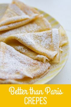 Best Crepe Crepes are easier to make than you think! This is the Best Crepe Recipe, even better than Paris crepes! Learn how to make them with my super simple techniques! Breakfast Dishes, Breakfast Recipes, Brunch Recipes, Dinner Recipes, Easy Breakfast Ideas, Mexican Breakfast, Pancake Recipes, Waffle Recipes, Best Crepe Recipe