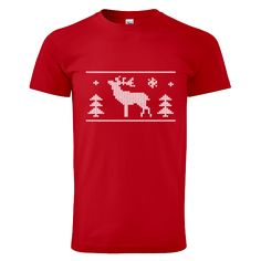 "Tip na vánoční dárek pro rodiče - tričko ""Tričko s jelenem"". Mens Tops, T Shirt, Fashion, Moda, Tee Shirt, Fashion Styles, Fashion Illustrations, Tee"