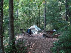secluded tent camping......