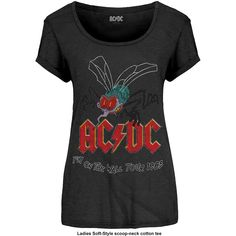 AC/DC - Fly On The Wall (Black) (Women's)