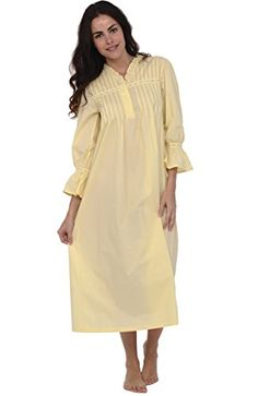 0eb6e06f55 Del Rossa Women s Romeo and Juliet 100% Cotton Bell Sleeve Victorian  Nightgown