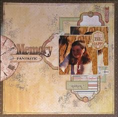 Fantastic Memory Layout 3 Ways by Megan Gourlay for BoBunny using Provence. #BoBunny @weemegs