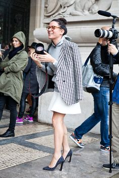 Garance + hoodie + blazer + skirt