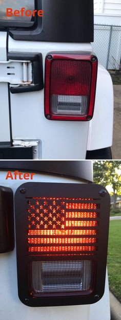 Jeep Wrangler Accessories - American Flag Tail Light Covers/ Guards/ Protectors for 2007-2018 Jeep Wrangler JK and Unlimited JKU Jeep Wrangler Lights, Jeep Wrangler Tj, Jeep Jeep, Jeep Wrangler Jk Accessories, Jeep Accessories, Jeep Hacks, Chevy C10, Camaro Ss, Light Covers