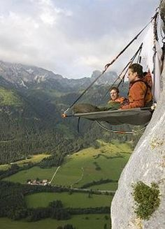 Extreme Camping. But make sure there's soft landing very close below.
