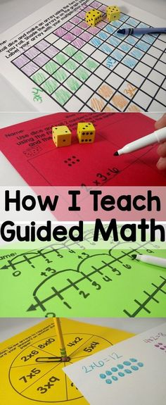 5 easy components for teaching guided math. Simple, solid ideas!