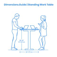 Standing work surface for laptop or tablet use for casual office or commercial environments. Human Dimension, Wedding Stage Design, Body Action, Workspace Inspiration, Woodworking Projects That Sell, Photoshop, Co Working, Table Dimensions, Furniture Design