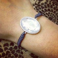 Rhinestone macrame bracelet by AroundMyWrist on Etsy, 12.00