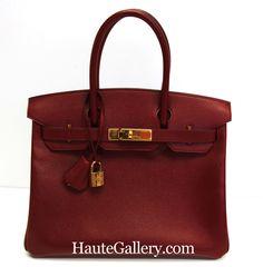 http://www.haute-gallery.com/ Hermes Birkin 30cm Rouge H Courchevel Leather Gold Hardware