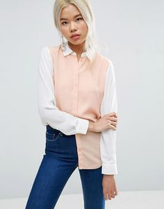 Shop for women's tops from ASOS. Shop for shirts, blouses, camisoles and going out tops, in trendy styles - sleeveless, sheer and mesh. Latest Fashion Clothes, Trendy Fashion, Fashion Online, Asos Tops, Going Out Tops, Asos Online Shopping, Style Inspiration, T Shirts For Women, Colour Block