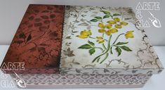 Caixa de MDF com Stencil Duplo: Flor Amarela - Arte & Cia 4