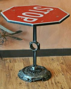 Stop sign table, plu
