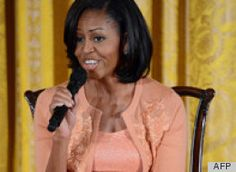 First Lady Michelle Obama fielded kids' questions today for her annual Take Your Child To Work Day event. In the event, which the White House streamed live on its website, Mrs. Obama bravely sat down in front of a large group of children (the sons and daughters of White House employees) and bellied up to some tough questions about Bo Obama, birthdays and even t...
