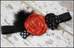 Halloween headband. I was inspired by this headband today and made a super cute halloween hair bow.