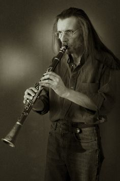 Man playing the clarinet