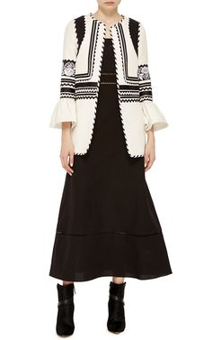 Shop The Nellie Coat. This limited edition **Alix of Bohemia** Nellie coat features ribbon embellishments with floral embroidery and flared sleeves. Winter Must Haves, T Shirt And Jeans, White Fashion, Fashion Outfits, Womens Fashion, Boho, My Style, How To Wear, Clothes