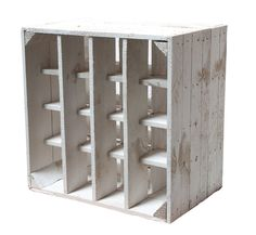 Kisten & Boxen - 3x weißes Weinregal, Flaschenregal,Obstkiste - ein…