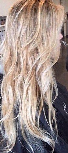 Shaggy blonde waves.
