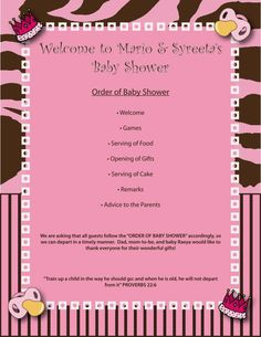 schedule for baby shower