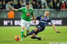 Photos Foot - Romain HAMOUNA / Olivier SORLIN - 08.01.2014 - Saint Etienne / Evian Thonon - Match en Retard - 17eme journee de Ligue 1 -