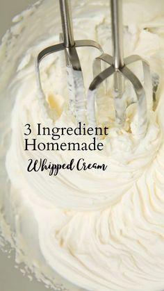 Fun Baking Recipes, Baking Tips, Sweet Recipes, Dessert Recipes, Icing Recipes, Homemade Whipped Cream, Recipe For Whipped Cream, Butter Cream Icing Recipe, Vanilla Icing Recipe