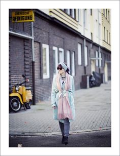 Winter Style, Winter Look, Winter Outfit, Winter coat, Pastel colors, pastel trenchcoat, Blogger Style, Layering