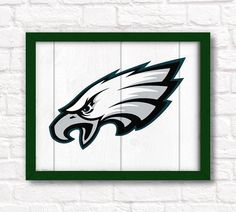 "Philadelphia Eagles rustic wall hanging 16""x20"" handmade sign - Eagles wall sign for Boys room or Man cave decor"