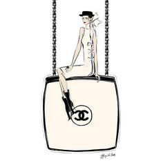 Chanel box clutch bag illustration Tiffany La Belle Art & Illustration