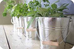 Fresh herbs make for tasty meals and earthy decor Earthy Home, Earthy Decor, Rustic Decor, Herb Planters, Herb Pots, Diy Home Decor, Room Decor, Kitchen Herbs, Good Find