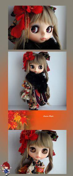 neo blythe, blythe, blythe dolls, custom blythe, collectibles, rinkya, japan, japanese blythe, kimono blythe