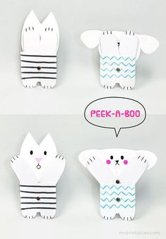 Peekaboo Jointed Paper Doll Template