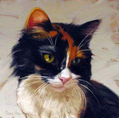 """Diane Hoeptner, Cally  Oil on panel, 8"""" x 8,"""""""
